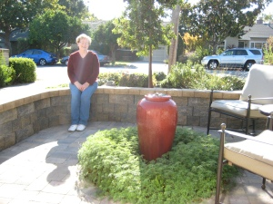 Albright-Souza Garden Design Entry courtyard with Marie