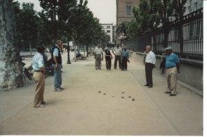 Petanque in Barcelona 1986