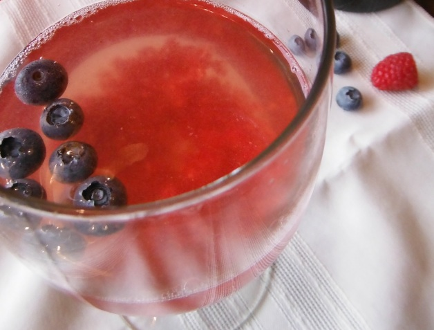 red white and blue spritzer cocktail