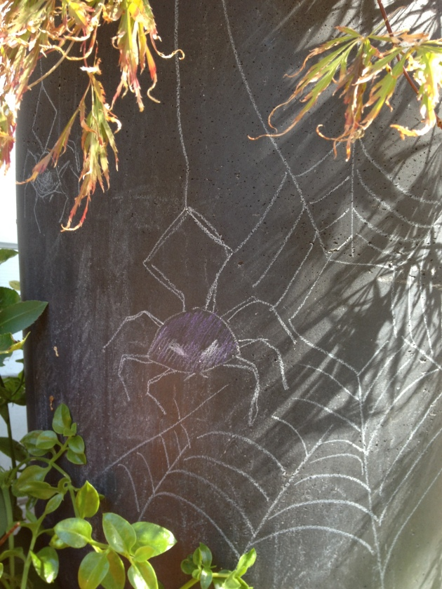 chalk spider pot closest