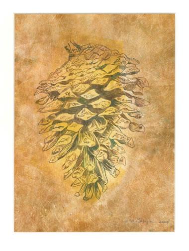 Monterey Pine monoprint by G. Lee Boerger