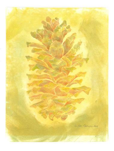 Montezuma Pine 2 - monoprint by G. Lee Boerger