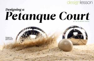 Petanque for The Designer