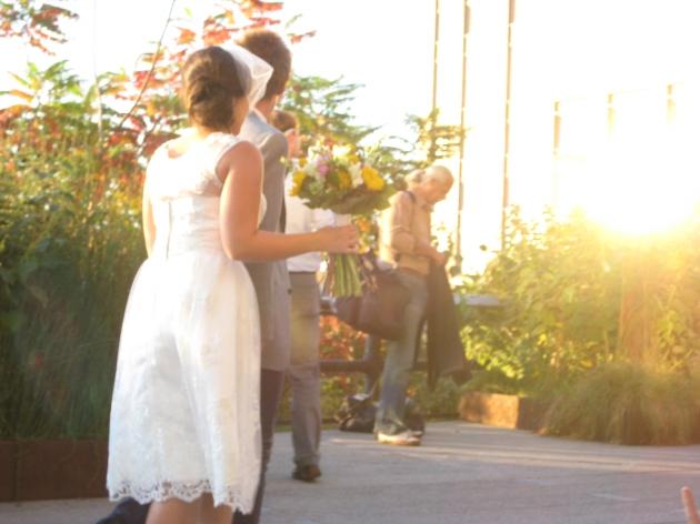 High Line wedding