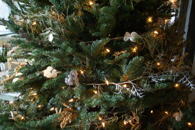 assorted tree deco from the garden