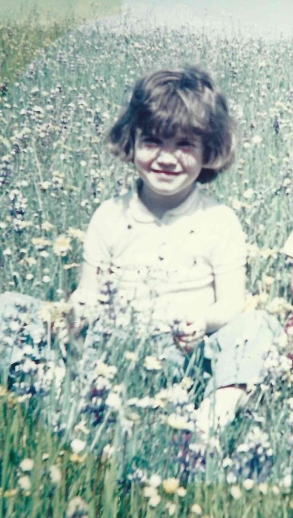 Joy in flower field