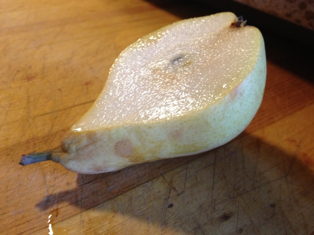 juicy cut pear