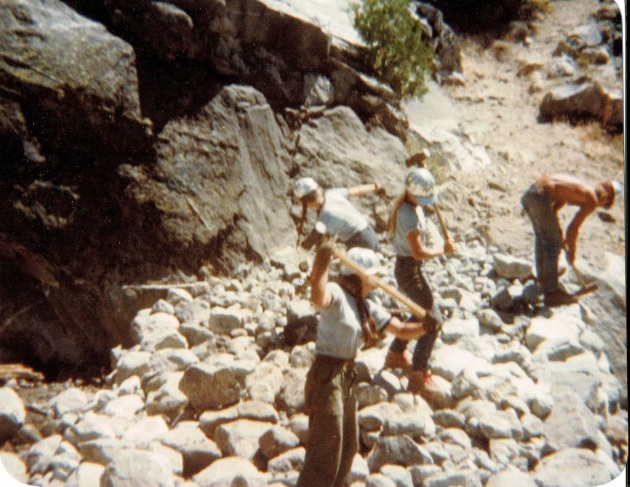 SCAYosemite 1979 breaking rocks for ford