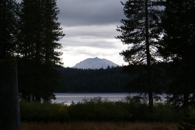 Lassen framed view dark