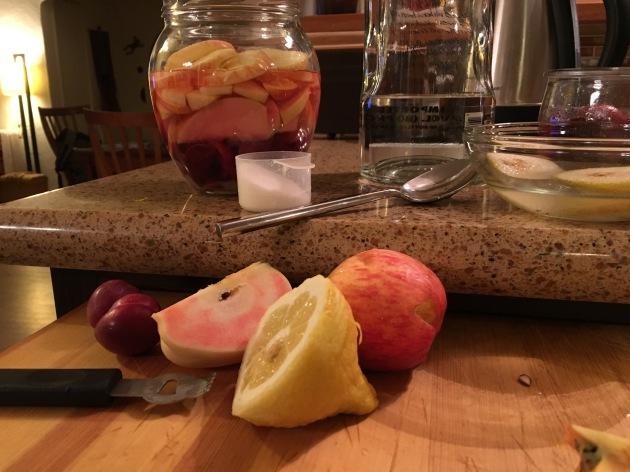 rumptopf rum pot making pink apples